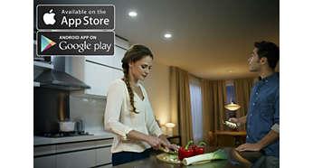 Styr lampan från din smarta telefon eller surfplatta för fler funktioner