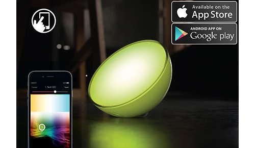 Volledige bediening via uw mobiele apparaat met uitgebreide functies