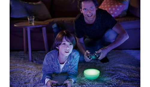 Licht gekoppeld aan uw muziek, televisie en games