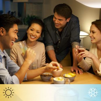 Zaawansowane tworzenie nastroju za pomocą białego światła w odcieniach od ciepłego do chłodnego