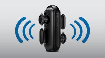 Dos controladores de altavoz y radiadores pasivos para un sonido envolvente