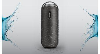 Diseño a prueba de salpicaduras ideal para el uso en exteriores (IPX4)