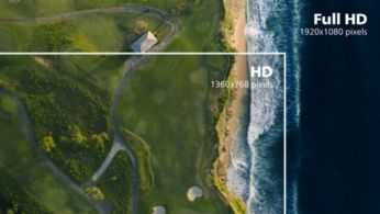 16:9 Full HD display for crisp detailed images