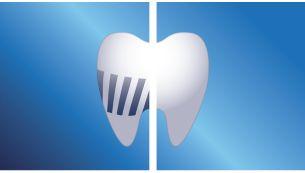 Elimina hasta 7 veces más placa entre los dientes