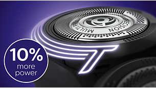 قم بحلاقة أماكن الشعر الكثيفة في اللحية بفضل الطاقة الإضافية بنسبة 10%