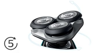 Heads flex in 5 directions for a fast close shave - Philips Shaver Series 5000 Wet & Dry Electric Shaver