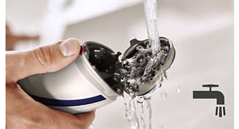 Shaver can be rinsed clean under the tap