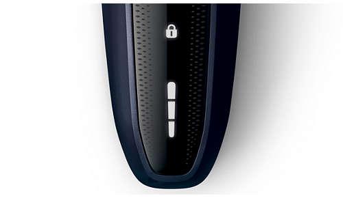 Batterij-indicator met 3 niveaus en reisvergrendelingsindicatoren