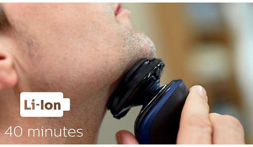 40Minuten kabellos rasieren