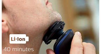 40minut bezprzewodowego golenia