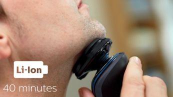 40 minut bezdrátového holení