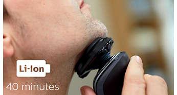 可供無線刮鬍 40 分鐘