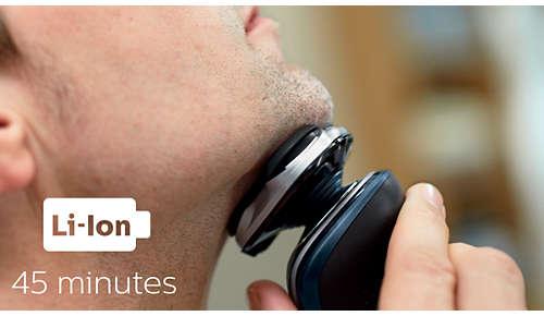 45 minuten snoerloos scheren