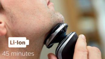 45 минути безкабелно бръснене