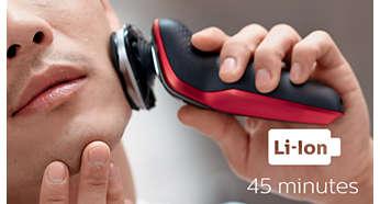 可供無線刮鬍 45 分鐘