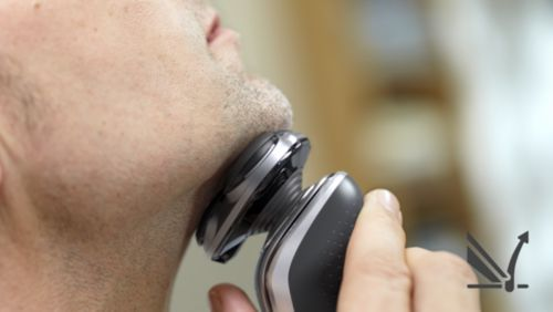 Tilt haartjes op voor een comfortabele gladde scheerbeurt