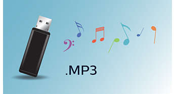 Enjoy MP3 music directly from your portable USB devices