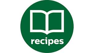 Функція MyRecipes (Мої рецепти) зберігає персоналізовані програми, які легко повторити
