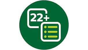 """22автоматических программы для оптимальных результатов, а также функция """"Мультиповар Pro"""""""