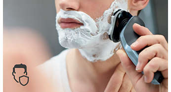 El cabezal de perfil redondeado se desliza suavemente para proteger la piel