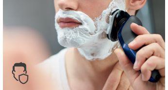 Zaokrąglony profil głowic zaprojektowany z myślą o ochronie skóry