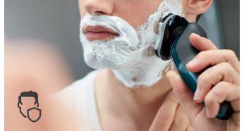 Закругленные края бритвенных головок для защиты кожи