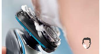 Rasage à sec confortable ou rafraîchissant sur peau humide grâce à AquaTec