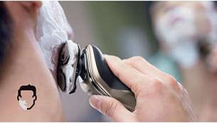 干湿两用,既可享受舒适的干剃,也可享受清新净爽的湿剃