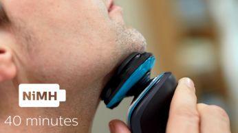 40 minutes of cordless shaving