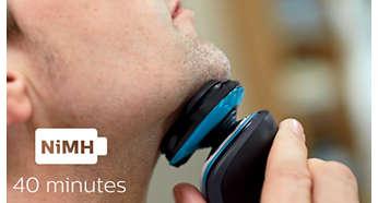 40minutos de afeitado sin cable
