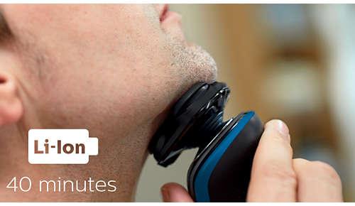 40 minuten snoerloos scheren