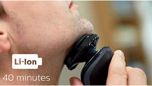 40 minutes of cordless shaving