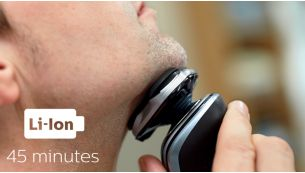 45 minutes of cordless shaving