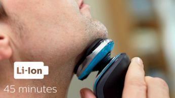 45 minūšu skūšanās laiks bez vada