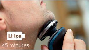 45 minutes of cordless shaving