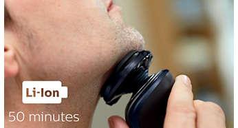 50 minuten snoerloos scheren