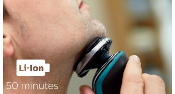 50 minutes of cordless shaving - Philips Shaver Series 5000 Wet & Dry Electric Shaver