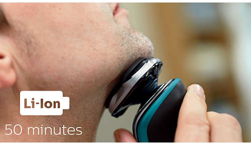 50Minuten kabellos rasieren