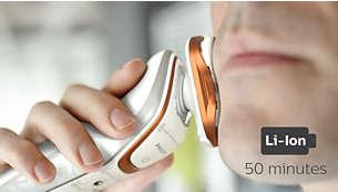50minutos de afeitado sin cable
