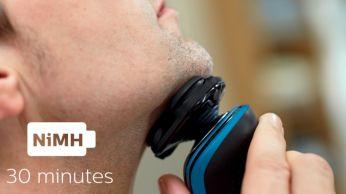30 minutes of cordless shaving
