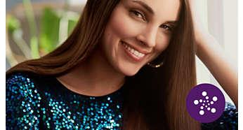 Perawatan lebih dengan pengkondisian ion untuk rambut berkilau, bebas kusut