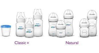 Совместимость с бутылочками и контейнерами Philips Avent