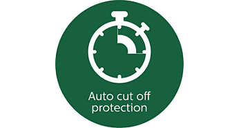 Auto cut off protection for enhanced motor life
