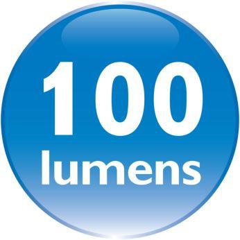 Светодиодный свет 100лм в форсированном режиме для четкого освещения