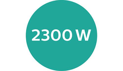 Hoogwaardig drogen met 2300 W