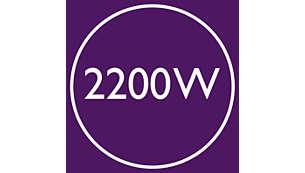 Moteur AC professionnel et 2200W de puissance