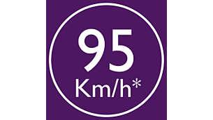 Ce sèche-cheveux DryCarePro génère un flux d'air pouvant atteindre 95km/h