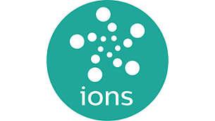 Tecnologia agli ioni per capelli lisci, splendenti e senza effetto crespo