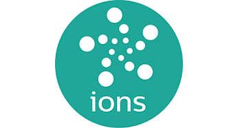 Technologie ionique, pour des cheveux lisses, brillants et sans frisottis