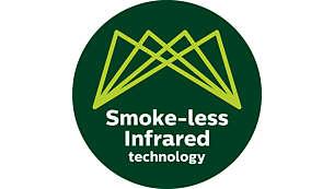 有效减少 80% 的油烟*,室内即可享受美食